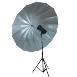 Visico 180 cm sølv paraply